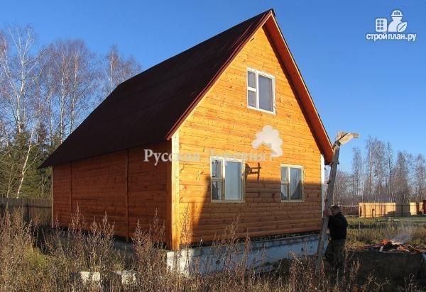 Фото 2: проект небольшой двухкомнатный дачный домик 6х4 с мансардой