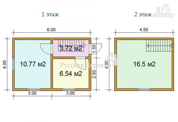 Фото 5: проект небольшой двухкомнатный дачный домик 6х4 с мансардой