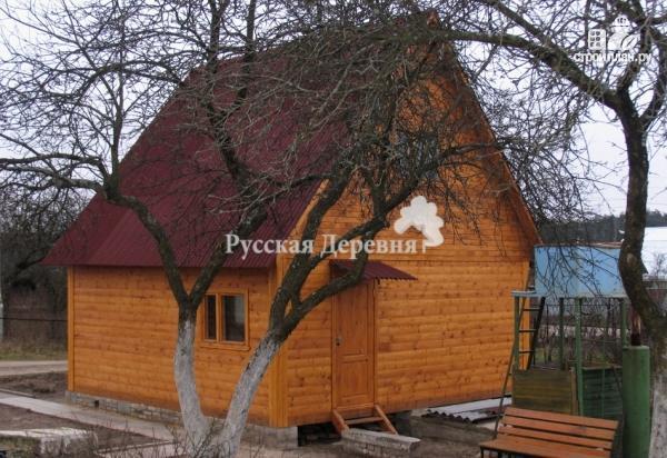 Фото 4: проект небольшой двухкомнатный дачный домик 6х4 с мансардой