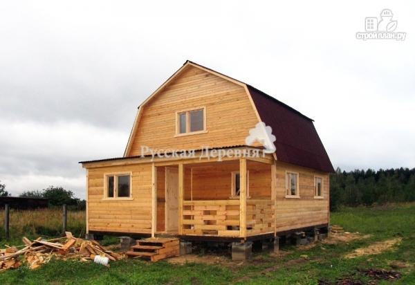 Фото 3: проект домик 6х4 с террасой 6х2, мансардный