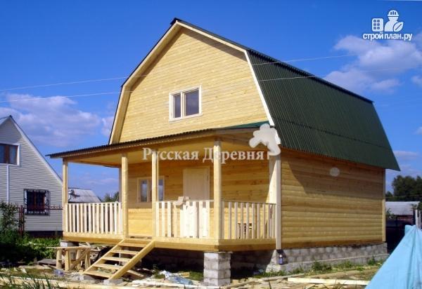 Фото 2: проект домик 6х4 с террасой 6х2, мансардный