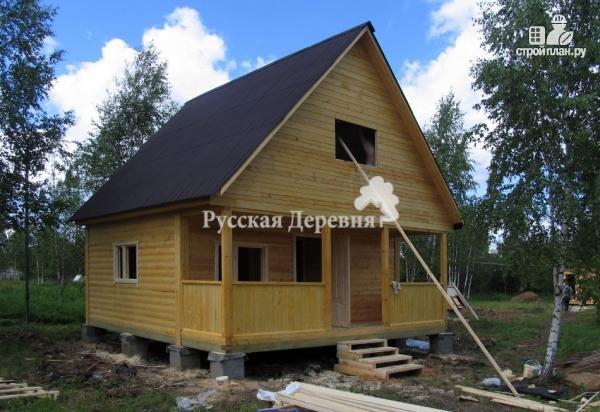 Фото 3: проект дачный домик 6х4,5 с террасой 6х1,5, мансардный, двухкомнатный