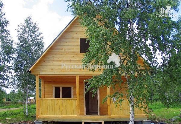 Фото 2: проект дачный домик 6х4,5 с террасой 6х1,5, мансардный, двухкомнатный