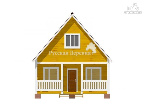 Фото 4: проект дачный домик 6х4,5 с террасой 6х1,5, мансардный, двухкомнатный