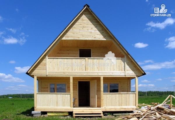 Фото 3: проект дачный домик 6х4,5 с террасой 6х1,5, балконом и мансардой