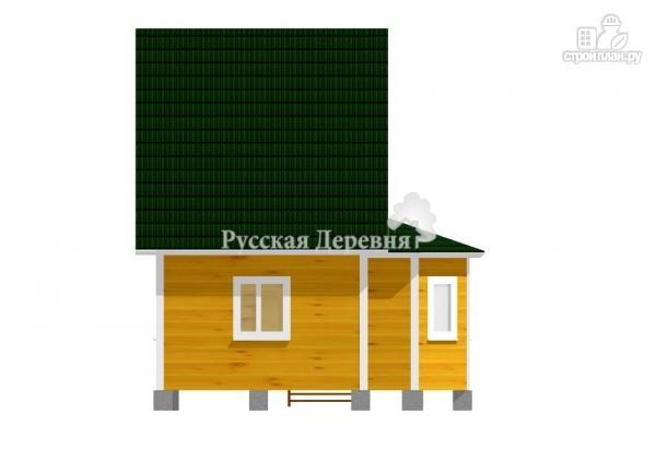 Фото 4: проект дом 4х6 с эркером, крыльцом 1,5х1,5 и мансардным этажом