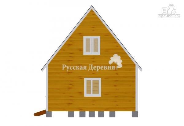 Фото 5: проект дом 4х6 с эркером, крыльцом 1,5х1,5 и мансардным этажом