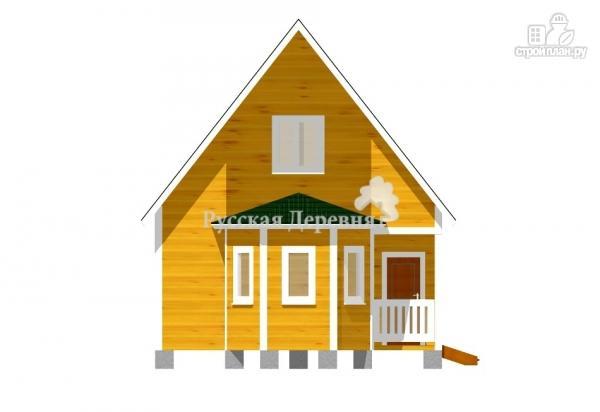 Фото 3: проект дом 4х6 с эркером, крыльцом 1,5х1,5 и мансардным этажом
