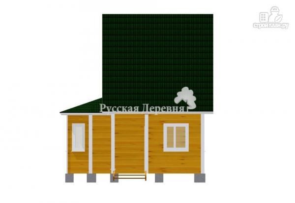 Фото 6: проект дом 4х6 с эркером, крыльцом 1,5х1,5 и мансардным этажом