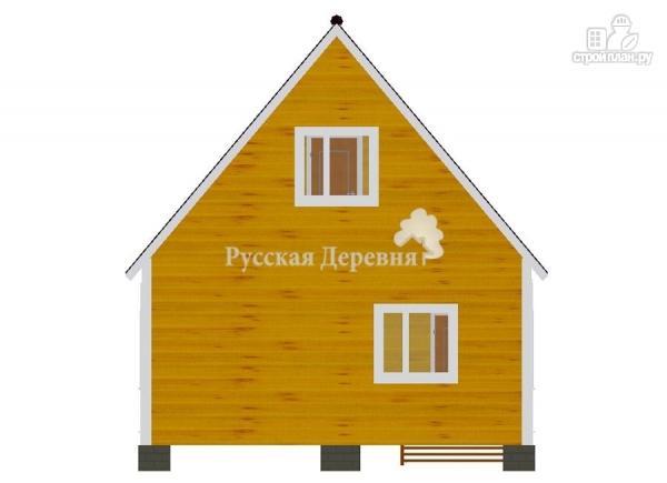 Фото 8: проект брусовой дом 6х4,5 с террасой 6х1,5 и балконом
