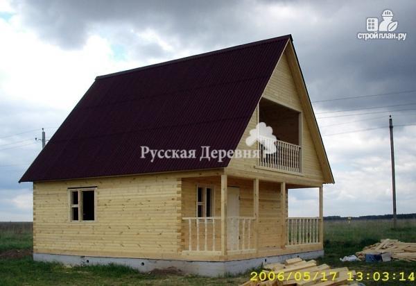 Фото 3: проект брусовой дом 6х4,5 с террасой 6х1,5 и балконом