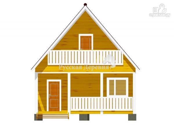 Фото 5: проект брусовой дом 6х4,5 с террасой 6х1,5 и балконом
