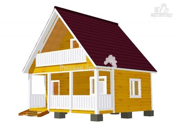 Фото 7: проект брусовой дом 6х4,5 с террасой 6х1,5 и балконом