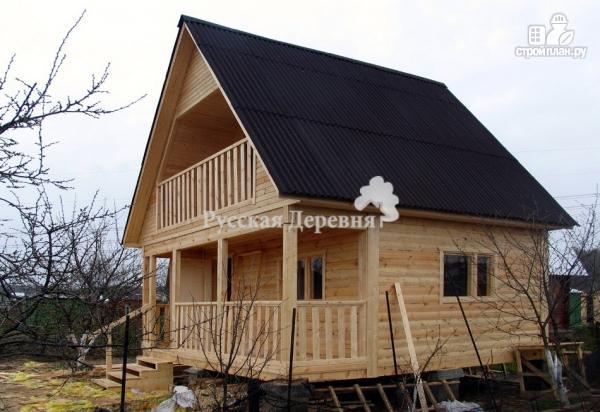 Фото 4: проект брусовой дом 6х4,5 с террасой 6х1,5 и балконом