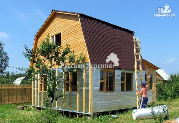 Фото 2: проект дачный домик 6х4, мансарда жилая