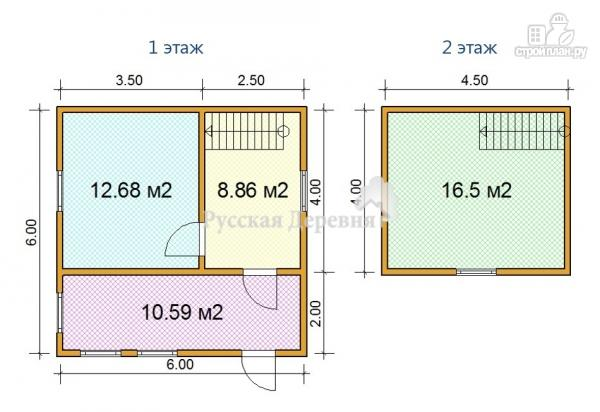 Фото 5: проект дачный домик 6х4, мансарда жилая