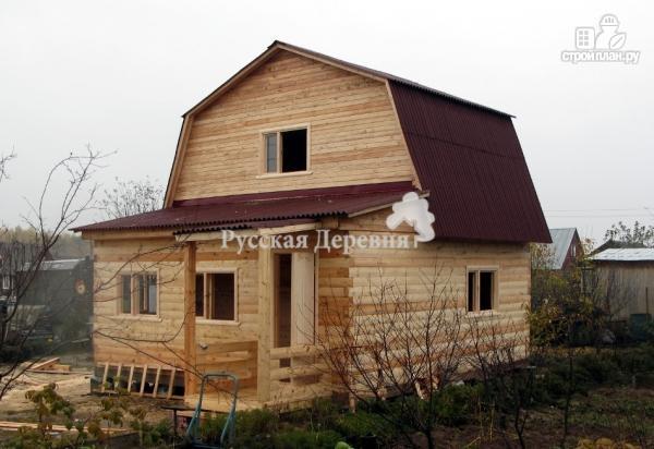 Фото 3: проект дачный домик 6х4, мансарда жилая
