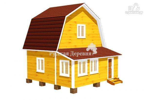 Фото: проект дачный домик 6х4, мансарда жилая