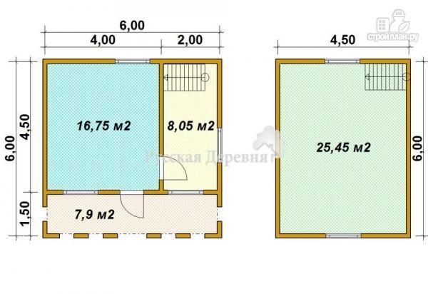 Фото 5: проект дом с террасой 6х1,5