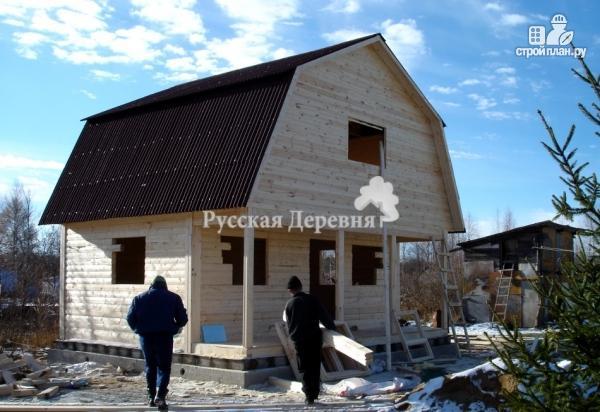 Фото 3: проект дом с террасой 6х1,5