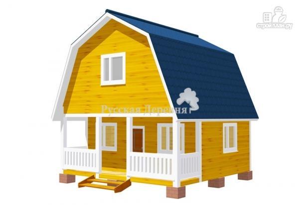 Фото: проект дом с террасой 6х1,5