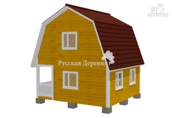 Фото 2: проект дачный дом 4,5х6 с террасой 1,5х6 и мансардным этажом