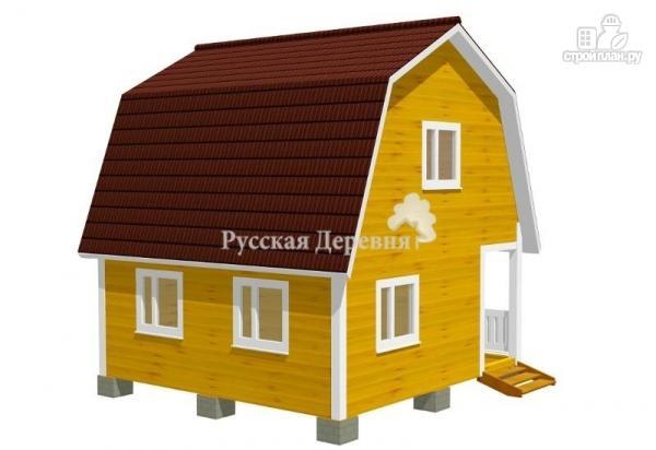 Фото 3: проект дачный дом 4,5х6 с террасой 1,5х6 и мансардным этажом