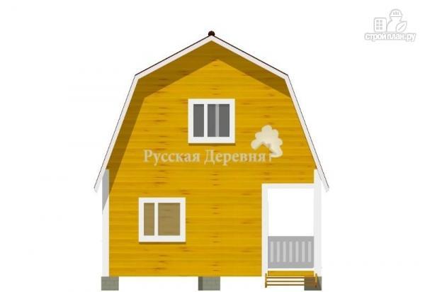 Фото 5: проект дачный дом 4,5х6 с террасой 1,5х6 и мансардным этажом