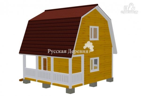 Фото 4: проект дачный дом 4,5х6 с террасой 1,5х6 и мансардным этажом