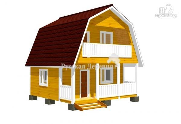 Фото: проект дачный домик 6х4,5 с террасой 6х1,5, мансардный с балконом