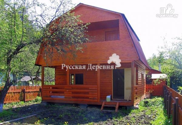 Фото 2: проект дачный домик 6х4,5 с террасой 6х1,5, мансардный с балконом