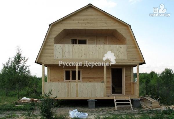 Фото 3: проект дачный домик 6х4,5 с террасой 6х1,5, мансардный с балконом
