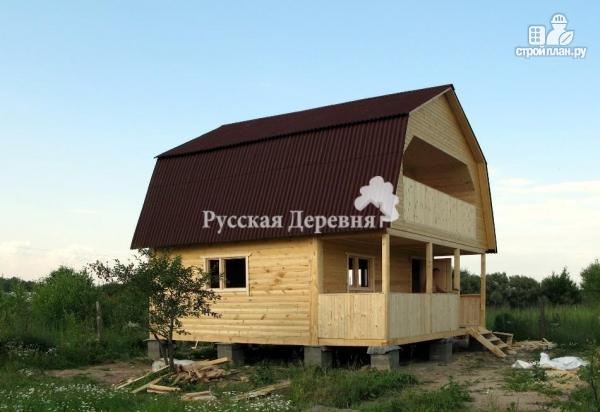 Фото 4: проект дачный домик 6х4,5 с террасой 6х1,5, мансардный с балконом