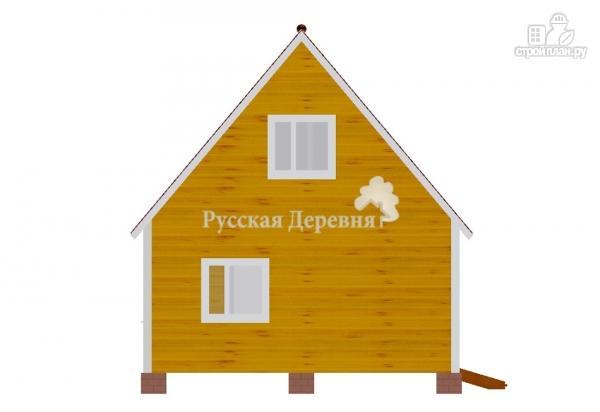 Фото 2: проект дачный дом 6х6 с крыльцом