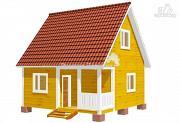 Фото: дачный дом 6х6 с крыльцом