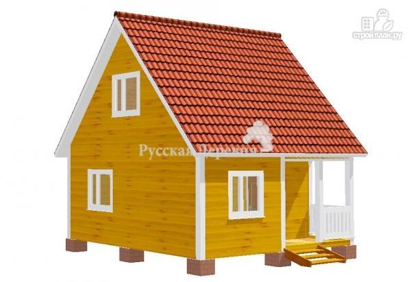 Фото 5: проект дачный дом 6х6 с крыльцом