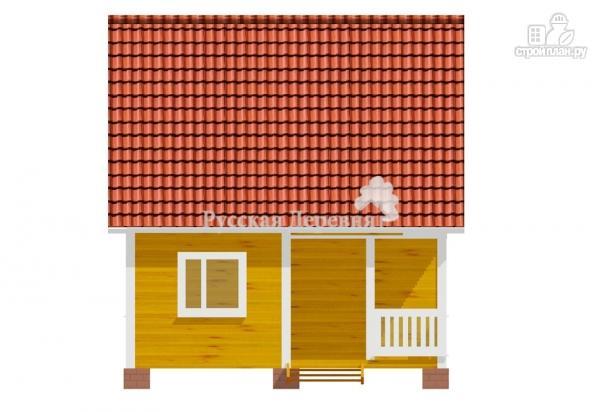 Фото 7: проект дачный дом 6х6 с крыльцом