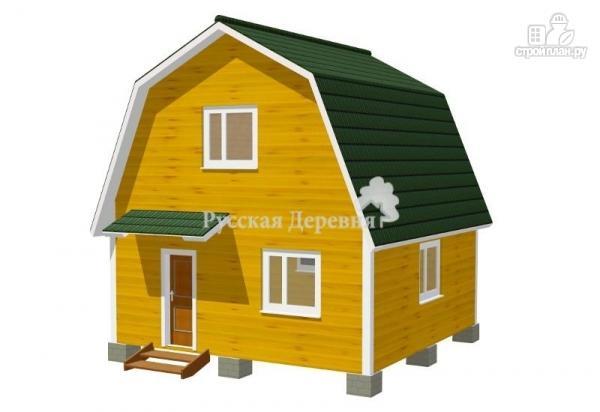 Фото: проект дом 6х6 с крылечком