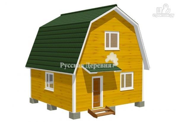 Фото 3: проект дом 6х6 с крылечком