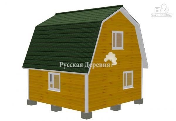 Фото 4: проект дом 6х6 с крылечком