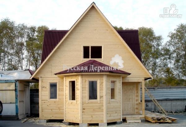 Фото 2: проект эркерный дачный дом с крыльцом