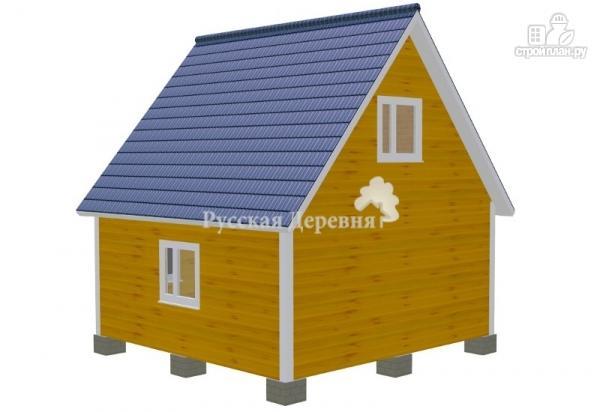Фото 5: проект дом дачный 6х6 с крыльцом и мансардой