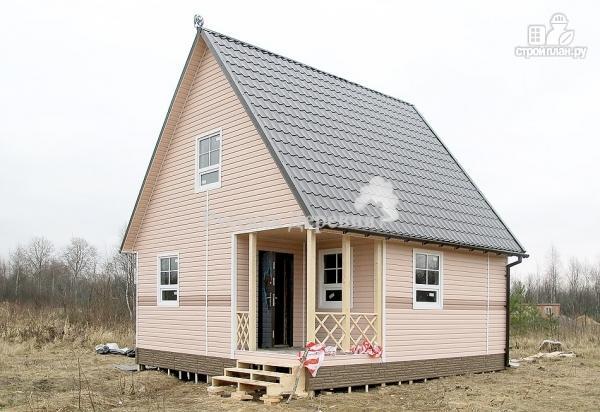 Фото 6: проект дом дачный 6х6 с крыльцом и мансардой