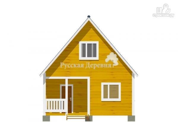 Фото 4: проект дом дачный 6х6 с крыльцом и мансардой