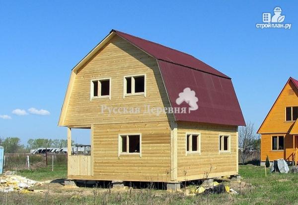 Фото 3: проект мансардный дом 6х6 с крыльцом 1,5х3