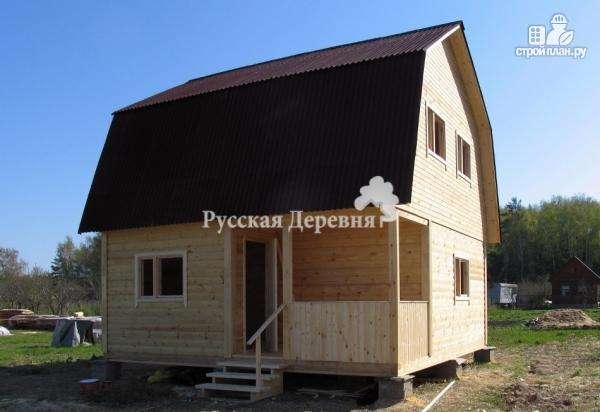 Фото 4: проект мансардный дом 6х6 с крыльцом 1,5х3