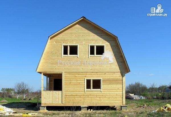 Фото 5: проект мансардный дом 6х6 с крыльцом 1,5х3