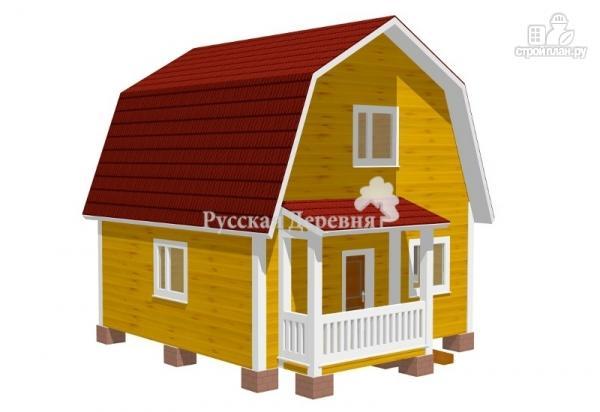 Фото: проект классический дом 6х6 с крыльцом 3х1