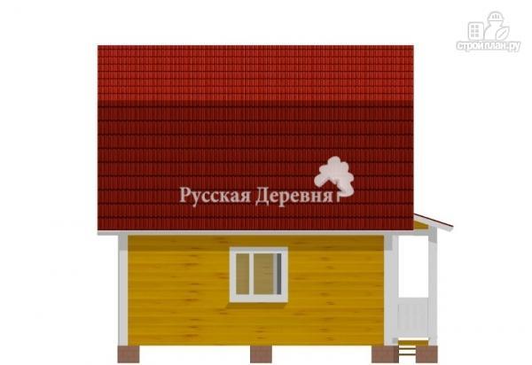 Фото 6: проект классический дом 6х6 с крыльцом 3х1
