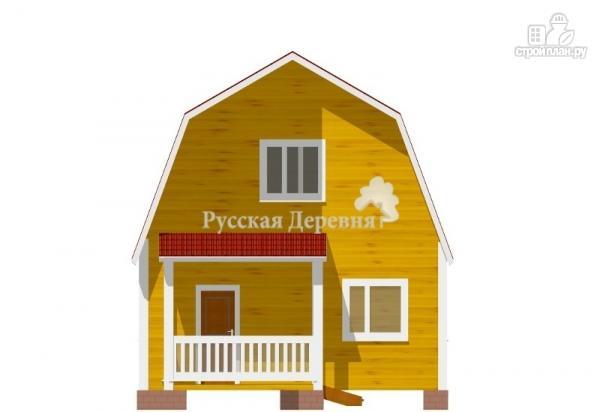 Фото 5: проект классический дом 6х6 с крыльцом 3х1